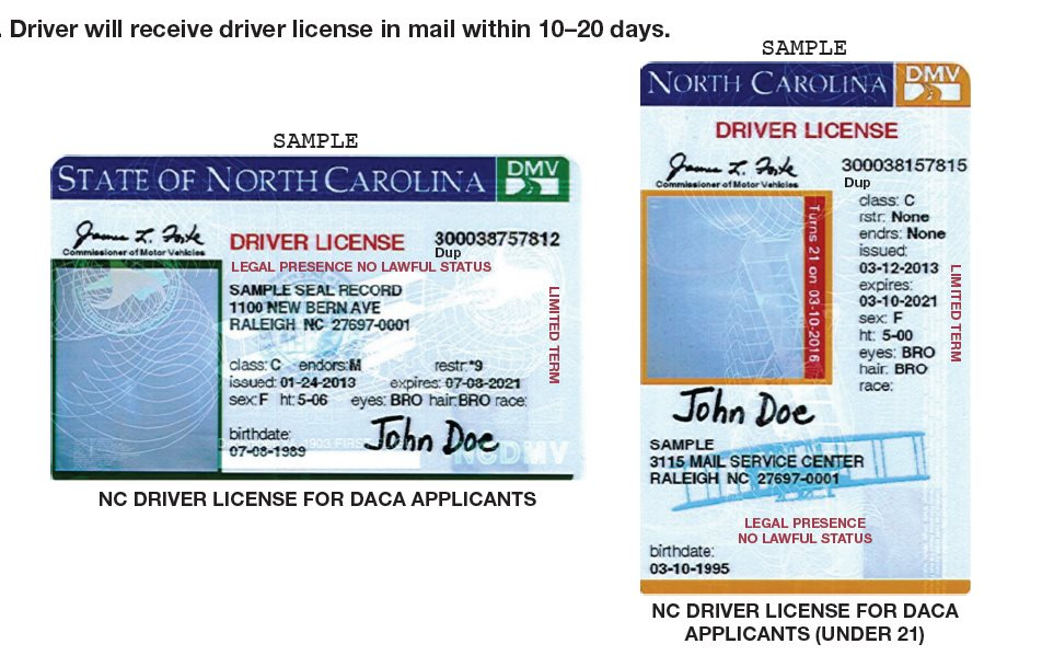 ncdot drivers license change of address