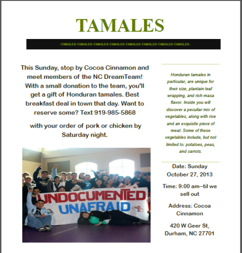 Honduran Tamales for Sale this Sunday!