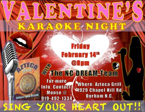 Valentine's Karaoke Night THIS FRIDAY !!!